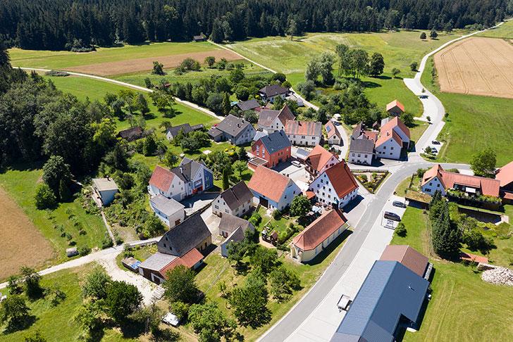 Waller von oben Gasthaus Pension Brauner Hirsch