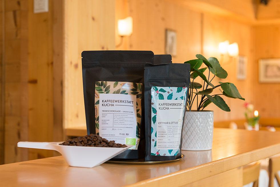 Kaffeewerkstatt Kucha Kaffeebohnen Gasthaus Brauner Hirsch Waller
