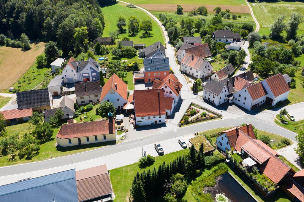 Gasthaus Brauner Hirsch von oben