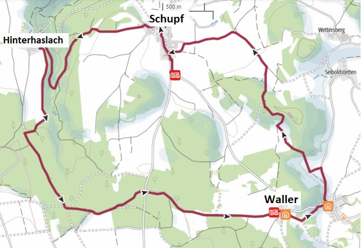 Rundwanderweg Waller Gasthaus Brauner Hirsch Hersbrucker Schweiz