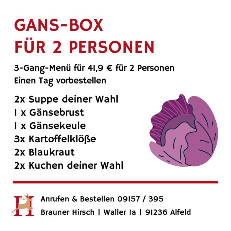 Gansbox Brauner Hirsch