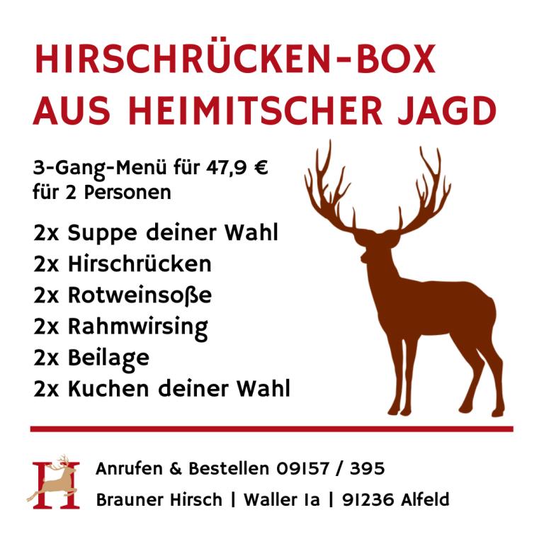 Hirsch-Box Gasthaus Brauner Hirsch Waller