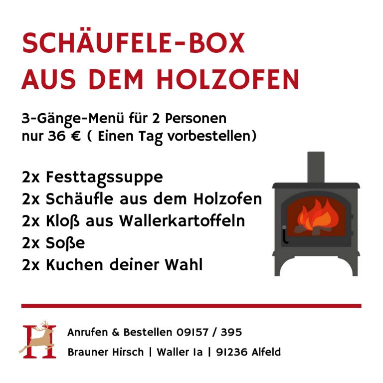 Schäufele Box Brauner Hirsch Waller