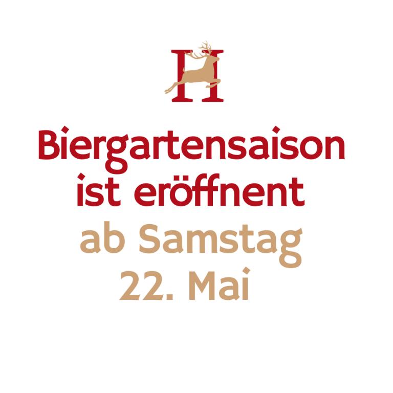 Biergarteneröffnung Brauner Hirsch Waller