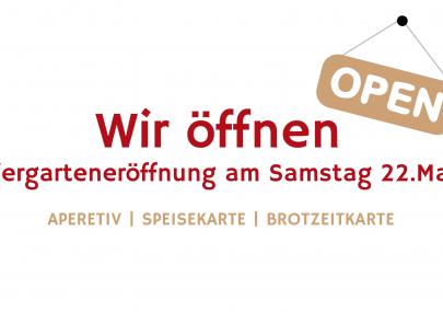 Biergarteneröffnung am Samstag 22. Mai